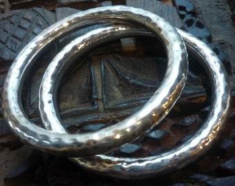 Sterling Silver Bangle, Hammered Silver Bangle, Chunky Silver Bangle, Statement Silver Bangle, Simple Silver Bangle,Sterling Silver Bracelet