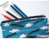 Purse pencil glases case Clouds design pouch Maedchenwahn fabrics