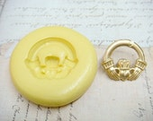 CLADDAGH  - Flexible Silicone Mold - Push Mold, Polymer Clay Mold, Pmc Mold, Clay Mold, Resin Mold