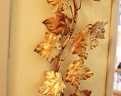 Lovely Large Vintage Italian Tole Gilt Ivy Wall Sconce Tagged