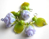 Lampwork Bead Roses Set - Romantic Pale Lavender