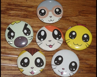 Hamtaro Pins - Set of 6