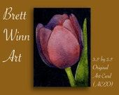 Violet Tulip (ACEO) Miniature Original