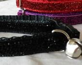 Cat collar 'LIZA' black  cat collar