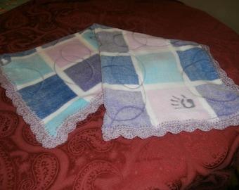 fleece baby blanket, newborn, crochet edging, photo prop