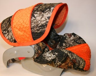 Hunters Camo Infant  Car Seat Cover - Custom Order- Comes with FREE Strap Covers