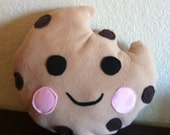 Choco Chip Cookie pillow,, Cookie Pillow, plushie pillow, kawaii pillow, character pillow