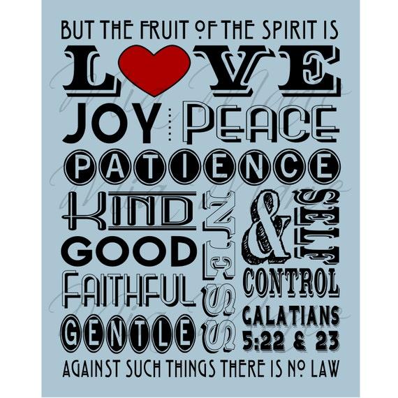 Fruit Of The Spirit Love Joy Peace Scripture Art By Mymiamarie