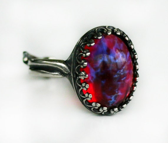 Fire Opal Wedding Ring