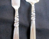 Community South Seas silver plated bread and butter with spoon set