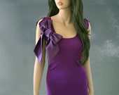 Woman purple top retro bow top by tratGirl valentino influence