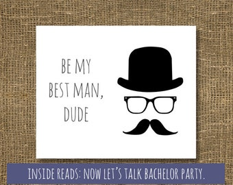 Will You Be My Groomsman Dude Greeting Card