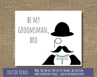 Be My Best Man / Groomsmen / Will You Be My Groomsman / Be My Usher / Will You Be My Best Man - Wedding Invitation | Come to My Wedding