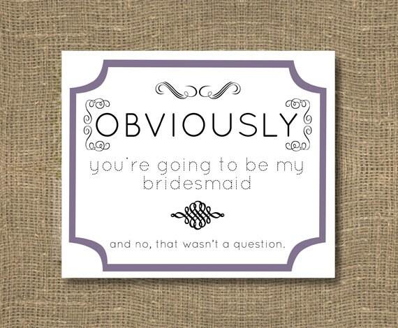 Bridesmaid /Junior Bridesmaid / How To Ask Bridesmaid Funny