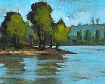 Lake Murray Plein Air- San Diego Landscape Painting