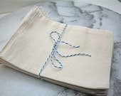 Muslin favor bags, 5x7. Set of 25.  Unprinted natural cotton drawstring bags.  Party favor or gift bags.