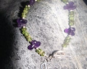 Personalized Amethyst and Peridot Bracelet