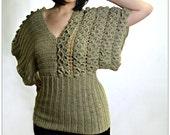 CROCHET PATTERN: Crocodile Stitch Kimono Top - Permission to Sell Finished Product