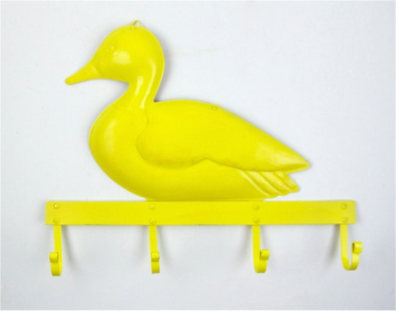 items similar to yellow duck hook rack bathroom decor