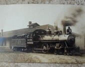 Grand Trunk Engine 1121 Antique Postcard