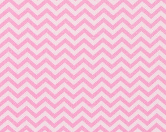 Chevron - Dark Pink and Pink Tonal - Mini Chevron - Fat Quarter - FQ