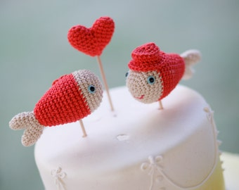 Coral Cake Topper,  Fish Wedding, Nautical and Beach Inspired Wedding