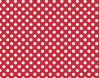 Riley Blake Small Dots Red- 1/2 yard