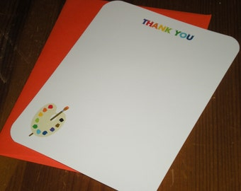 Art Party Thank you notes - Set of 12