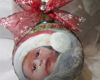 Baby's First Christmas Hand Painted Ornament