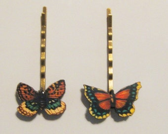 Super Small Butterfly Bobby Pin B-66b, c, d, e, f, g,