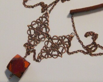 Mixed Media Boho Necklace- 42 inch (Style Number 4)