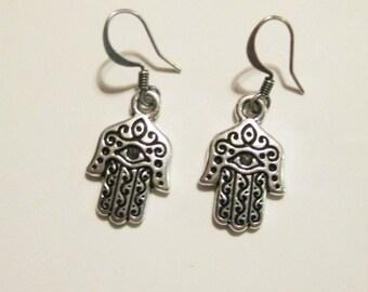 TierraCast Hamsa Dangle Earrings