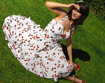 Rockabilly cherry wedding dress
