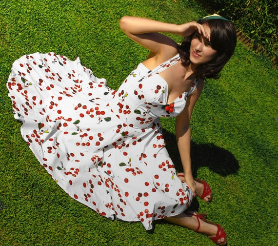 Rockabilly Wedding Gown: Cherry Dress By TiCCi Rockabilly Clothing