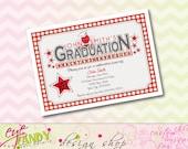 GRADUATION - Backyard BBQ - Graduation INVITE - custom Colors included