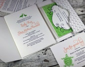 At the Lake wedding invitation suite LP-BCH-04