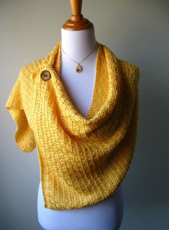 Summer's Glow - Knitted Shawl
