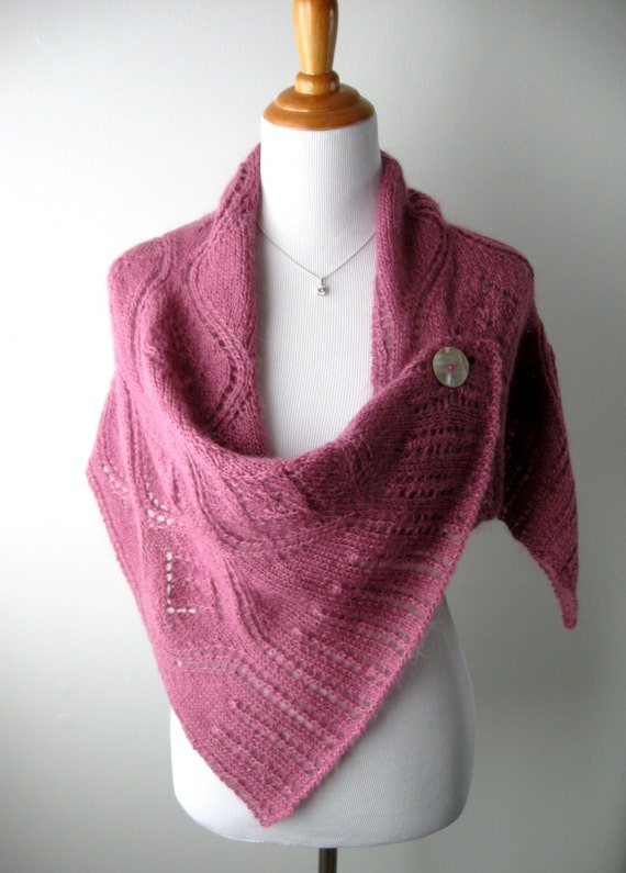 Hand Knitted Wrap / Shawl / Poncho SALE by AlmasKnitShop on Etsy