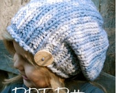 Knitting PATTERN-The Sterling Slouchy (pattern includes sizes for: toddler, child and adult)