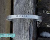 Personalized Cuff Bracelet - Handstamped Cuff Bracelet - Custom Bracelet - Handmade Cuff - Handstamped Jewelry- Word Bracelet