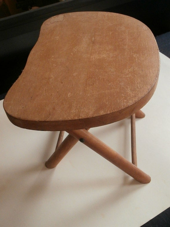 Vintage Nevco Fold N Carry Wood Milking Stool