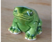 Otagiri Mercantile Company Mini Green Frog Ceramic Figurine