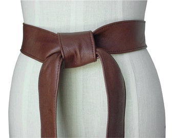 popular items for leather tie belt on etsy