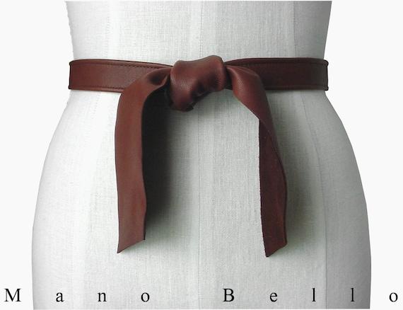 sale soft leather tie belt leather coat belt by manobello
