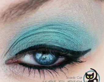 Teal Eye Shadow - Vegan - Scaredy Cat - KOI-EURISM