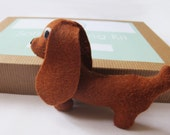 Make Your Own Sausage Dog Softie Felt Toy Sewing Kit