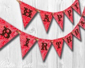 Wild West Party, Rodeo Party, Cowboy Cowgirl Party - PRINTABLE BIRTHDAY BANNER - Cutie Putti Paperie