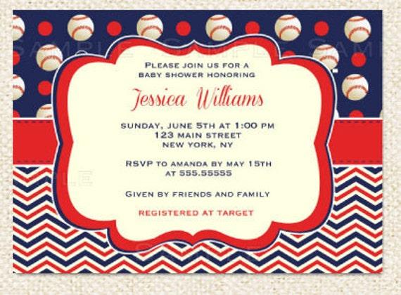 Items similar to Baseball Baby Shower invitations on Etsy