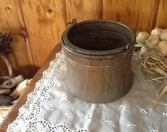 Copper Pot Primitive 1800's Fireplace Hand Wrought Kettle Rare