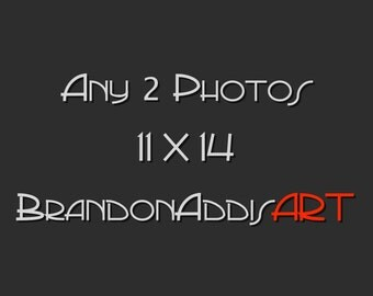 Any Two Photos 11X14, Customize and Save, Vintage Modern Wall Decor, Vintage Home Decor Art Photography